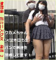 無防備 超ミニスカJK 痴漢2