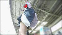 【追跡パンチラ盗撮08】ターゲットの美人JKに盗撮バレ